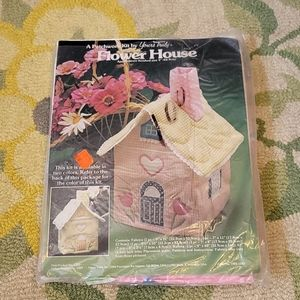 Yours truly patchwork flower house vintage